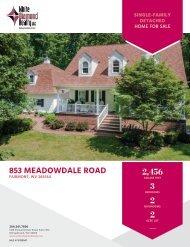 853 Meadowdale Road [House] Marketing Flyer