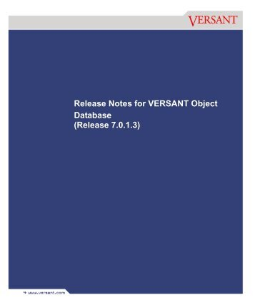 installing versant object database - Your Projects