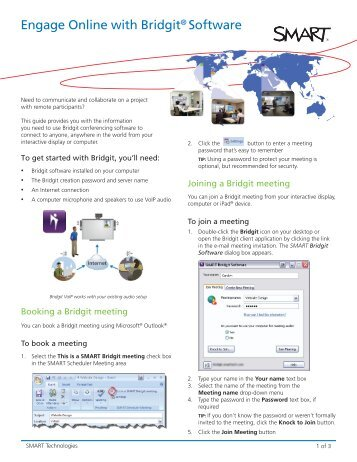 Engage Online with Bridgit® Software - SMART Technologies