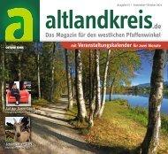 altlandkreis - Das Magazin für den westlichen Pfaffenwinkel - Ausgabe September/Oktober 2021