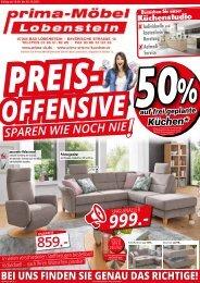 Preis-Offensive bei prima-Möbel Lobenstein! Sparen wie noch nie!