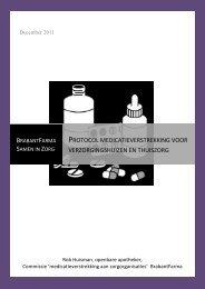 Praktijkvoorbeeld van medicatieveiligheid in de Care-sector - Knmp