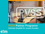 PVSS Partner Programm