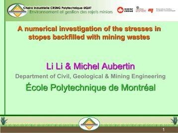 (Li and Aubertin 2008). - École Polytechnique de Montréal