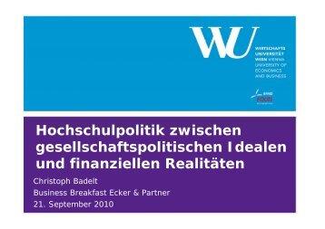 Hochschulpolitik zwischen ... - Ecker & Partner
