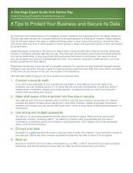 8 Tips to Protect Your Business and Secure Its Data