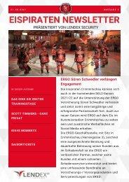 Eispiraten Crimmitschau Newsletter August 2021