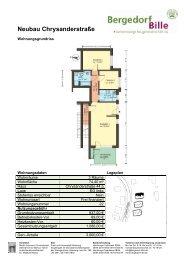 Wohnungsgrundrisse Neubau Chrysanderstraße 44-48