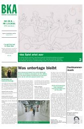 Berner Kulturagenda N°29