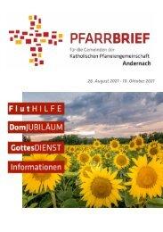 Pfarrbrief Andernach September 2021