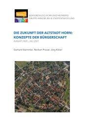 Bürgerdialog Horn-Bad Meinberg Arbeitsgruppe Immobilien