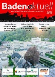 Baden aktuell Magazin September 2021