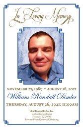 William Dimler Memorial Program
