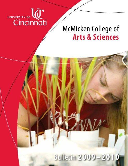 Bulletin 2009–2010 - McMicken College of Arts & Sciences ...