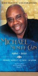 Michael Cain Memorial Program