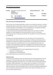 Kontakt: Putzmeister Concrete Pumps GmbH Marketing Max-Eyth ...