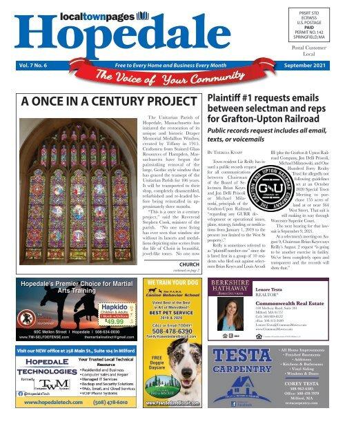 Hopedale September 2021