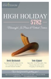High Holiday 5782 Informational Bulletin-Final