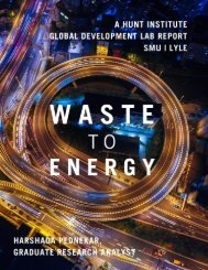 Waste to Energy: Harnessing the fuel in organic waste to create a business opportunity for a recycling-based society and system