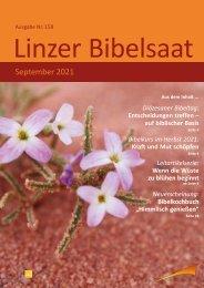 Linzer Bibelsaat 158 (September 2021)
