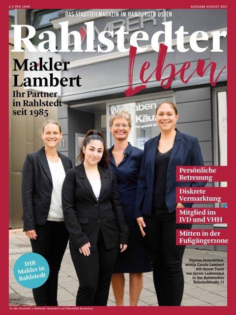 Stadtteilmagazin Rahlstedter Leben August 2021
