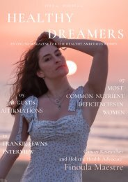 Healthy Dreamers - ISSUE 05 - AUGUST 2021
