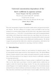 Universal concentration dependence of the Soret coefficient in ...