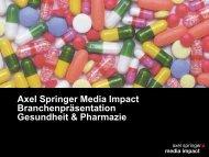 Gesundheit & Pharmazie - Axel Springer MediaPilot