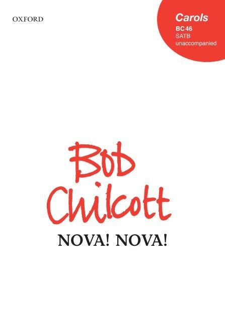 Bob Chilcott - Nova! nova!