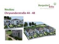 Präsentation Neubau Chrysanderstraße 44 - 48