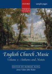English Church Music Volume 1: Anthems and Motets