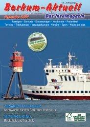 September 2021 Borkum-Aktuell - Das Inselmagazin