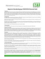 Allgemeine Einkaufsbedingungen STRATHOTECH Dämmstoff GmbH