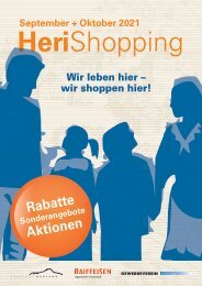Gewerbe Herisau - Broschüre HeriShopping 2021