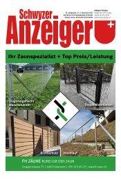 Schwyzer Anzeiger – Woche 35 – 3. September 2021