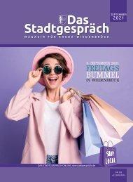 Das Stadtgespräch Ausgabe September 2021 auf Mein Rheda-Wiedenbrück