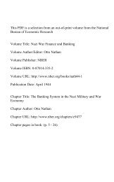 PDF (1005 K) - National Bureau of Economic Research