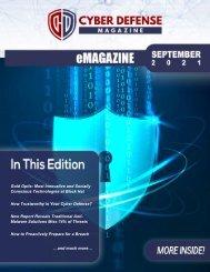 Cyber Defense eMagazine September Edition for 2021