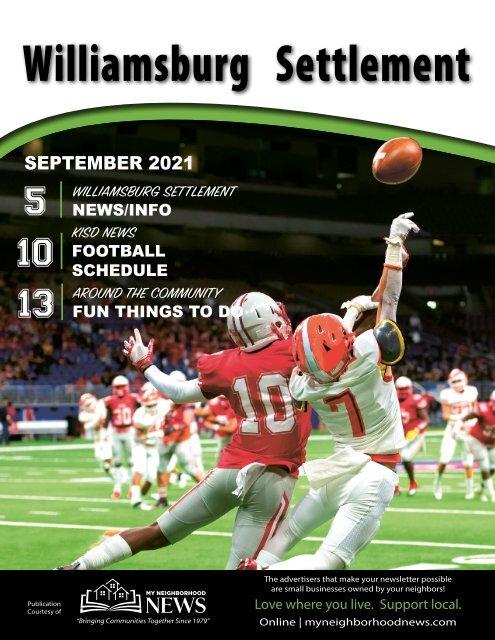 Williamsburg Settlement September 2021