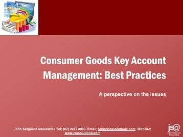 Best Practices in Key Account Management - John Sergeant ...