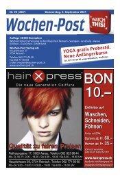 Wochen-Post   KW 35   2. September 2021