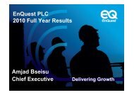 2010 Full Year Results - EnQuest