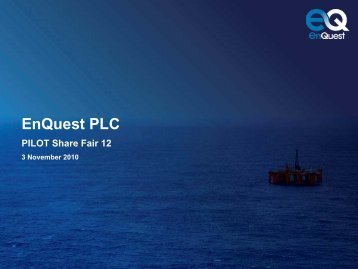 EnQuest's Opportunity - Oil & Gas UK