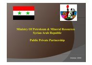 Ministry Of Petroleum & Mineral Resources Syrian Arab Republic ...