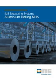 IMS Measuring Systems for Aluminium Rolling Mills