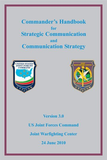 Commander's Handbook Strategic ... - The Air University