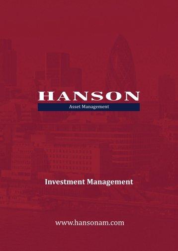 Advisory Portfolio - Hanson Consulting