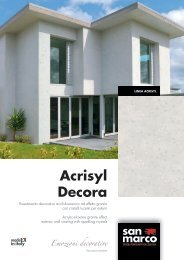 Acrisyl Decora Emozioni decorative - San Marco Group