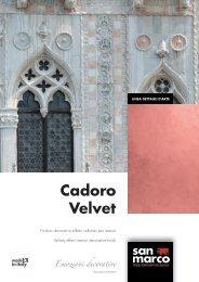 Cadoro Velvet Emozioni decorative - San Marco Group
