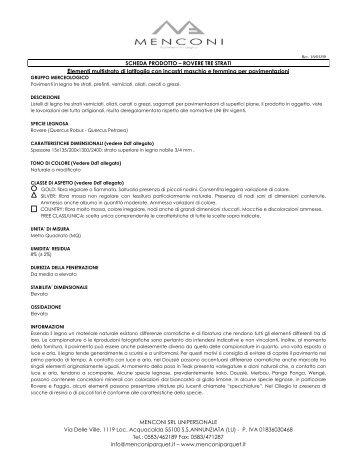Download Scheda Tecnica - Menconi pavimenti in legno - parquet